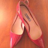 Оригинал prada milano шикарные красные лаковые туфли лодочки 37р
