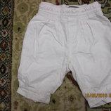 Льняные штанишки на подкладке Baby Gap, 3-6 мес. можно дольше