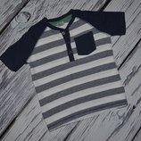18 - 24 месяца 92 см обалденная фирменная натуральная футболка мальчику