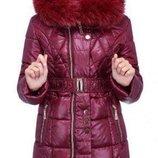 Пальто зимнее с мехом Мирабель, NUI VERY