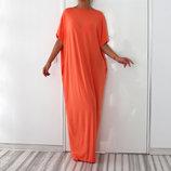 Красивое трикотажное платье свободный силуэт