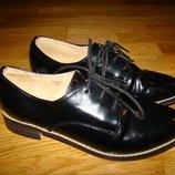 Женские туфли оксфорды Topshop р. 37 23 см по стельке