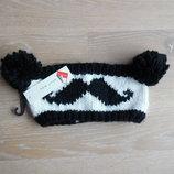 Шапка повязка черна белая панда бомбоны New Look Нью Лук