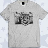 Стильная футболка Фотоаппарат арт