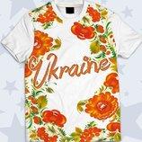 Детская футболка 3D Цветы Украины Огромный выбор