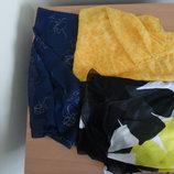 Порэо платок на море пляж желтый синий туника пляжная Charmline
