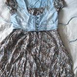 Летнее платье на девочку10-12 лет