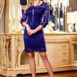 Красивое гипюровое платье