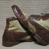 Изысканные комбинированные ботинки от италянского бренда Moma 41 1/2.