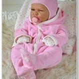 Комплект на выписку для новорожденных из роддома и одеяльце Звездочка 6 предметов
