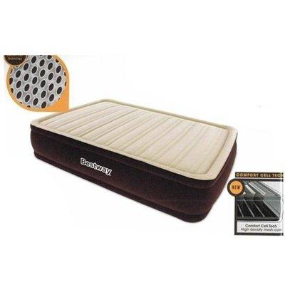 Велюровый надувной матрас с встроенным насосом 220V. 191 97 43 см. 67492.