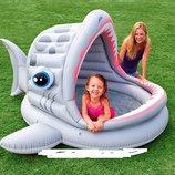 Детский бассейн 57120 с навесом «Акула»