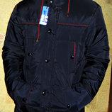 Куртка парка демисезонная темно-синяя мужская