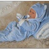 Шикарный комплект набор на выписку новорожденных Звездочка 6 предметов
