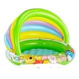 Детский надувной бассейн с навесом. Intex. 102х20х69 см. 57424