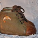 Детские ботиночки 16 р. Винтажные ботинки для куклы. Ботинки для мишки.