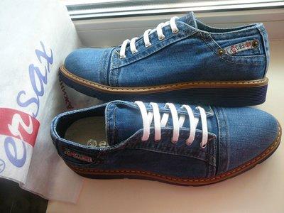 19a703aa5 Ersax мужские джинсовые туфли, мокaсины кеды 40, 41, 42, 43, 44, 45 ...