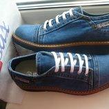Ersax мужские джинсовые туфли, мокaсины кеды 40, 41, 42, 43, 44, 45, 46 Турция Киев