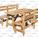 Набор мебели из дерева для сада, дачи, в беседку, на террасу / Код Нм-6