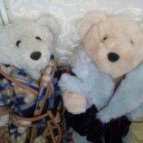 Шикарный большой коллекционный Медведь мишка мягкая игрушка коллекция