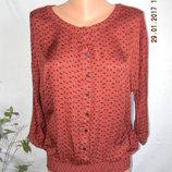 Красивая натуральная блуза с принтом