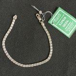 Новый серебряный браслет с куб.цирконием 17,0 17,5 18,0 18,5 19,5 см Серебро 925 пробы