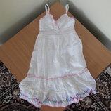 Сарафан платье 12 лет вышивка цветки белое длинно Butterfly