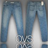 Джинсы женские скинни с текстурой M-L фирмы OVS Италия, 2 расцветки
