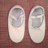 Балетки кожаные для танцев р.36 стелька 21см
