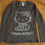 Реглан с блестящей Hello Kitty на 8-9л.