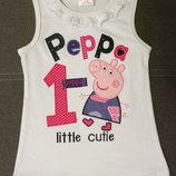 Детский летний топ, майка, футболка для девочки с Пеппой, Пепа, для дівчинки