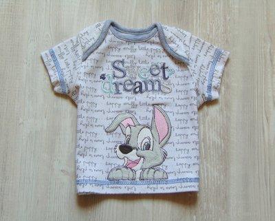 Яркая футболочка для маленького модника. Модель унисекс. George. Размер 0-3 месяца и 3-6 месяцев