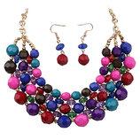 Ожерелье и серьги в Бохо стиле, разные цвета