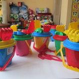Песочные наборы,ведро, лопатки, пасочки игрушки для песочницы