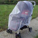 Защитная универсальная москитная сетка на коляску