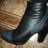 Женские ботиночки 38раз.Кожа