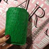 Чехол для телефона-зеленый под страусиную кожу на 5/5s и другие модели