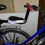 Велокресло на мужской и женский / дамский велосипед, сидение детское