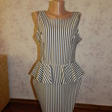 платье с баской стильное модное р12