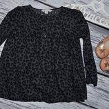 4 - 5 лет 110 см Рубашка блузка блуза для модници леопард стильной девочке