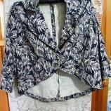 Женский пиджак р.54-60 котоновый с принтом, размер большой, фирма, распродажа, обмен возможен