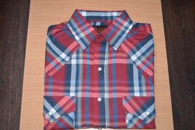 Оригинальная техасская мужская рубашка Plains в клетку с коротким рукавом