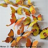 Декоративные наклейки 3D бабочки