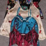 новые красивые атласные пеньюары,ночнички,ночные рубашки,рр С,м,л