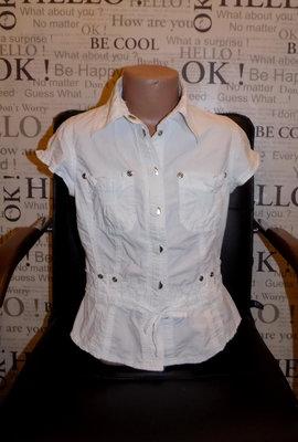 4e5917b7efb Белая рубашка с коротким рукавом