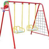 Качели уличные для двух детей качели баскетбольное кольцо гладиаторская сетка дартс 702/к