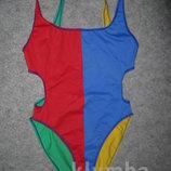 Coast яркий спортивный цельный купальник на 15-18лет или купальник для танцев