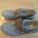 кроссовки голубые кожанные 38 размер.фирма ciao rigazzi.