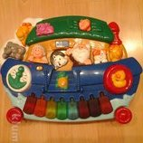интерактивная игрушка пианино музыкальное chicco