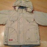 куртка бежевая на рост 98 см, 3-5 лет.wojcik
